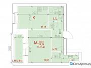 1-комнатная квартира, 42 м², 3/14 эт. Череповец