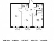 2-комнатная квартира, 51.4 м², 5/9 эт. Московский