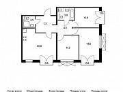 3-комнатная квартира, 75.8 м², 8/9 эт. Московский