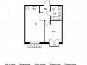 1-комнатная квартира, 36.3 м², 9/9 эт. Московский