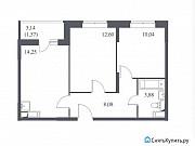 2-комнатная квартира, 50.4 м², 9/14 эт. Щербинка