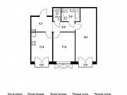 2-комнатная квартира, 57.8 м², 5/9 эт. Московский