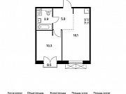 1-комнатная квартира, 36.4 м², 8/9 эт. Московский
