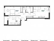 2-комнатная квартира, 54.6 м², 9/17 эт. Томилино