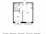 1-комнатная квартира, 36.4 м², 2/9 эт. Московский