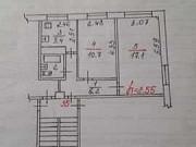 Комната 17.1 м² в 2-ком. кв., 1/4 эт. Псков