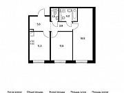 2-комнатная квартира, 57 м², 1/9 эт. Московский