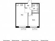 1-комнатная квартира, 36.1 м², 8/9 эт. Московский