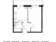 1-комнатная квартира, 32.7 м², 16/17 эт. Томилино