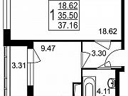 1-комнатная квартира, 37.2 м², 8/8 эт. Нахабино