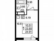 Студия, 24.9 м², 1/8 эт. Нахабино