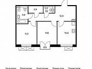2-комнатная квартира, 54.9 м², 5/9 эт. Московский