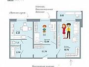 2-комнатная квартира, 59.7 м², 8/9 эт. Новосибирск