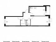 2-комнатная квартира, 55.8 м², 13/17 эт. Томилино