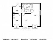 2-комнатная квартира, 57.8 м², 7/9 эт. Московский