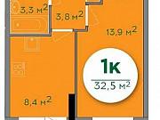 1-комнатная квартира, 32.6 м², 2/18 эт. Ижевск