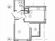 1-комнатная квартира, 31.3 м², 25/25 эт. Красногорск