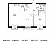 2-комнатная квартира, 59 м², 9/9 эт. Московский