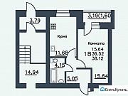 1-комнатная квартира, 38 м², 4/9 эт. Череповец