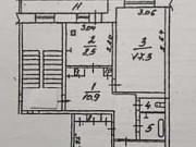 3-комнатная квартира, 66.6 м², 4/5 эт. Невель