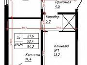 2-комнатная квартира, 54.2 м², 8/16 эт. Барнаул