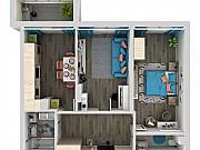 2-комнатная квартира, 61.1 м², 2/24 эт. Самара