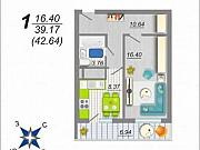 1-комнатная квартира, 42.6 м², 15/17 эт. Воронеж