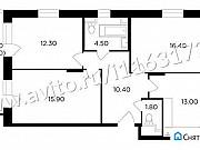 3-комнатная квартира, 77.3 м², 7/17 эт. Мытищи