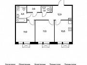 2-комнатная квартира, 54.7 м², 6/9 эт. Московский