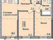 2-комнатная квартира, 55.1 м², 2/18 эт. Ижевск