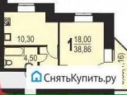 1-комнатная квартира, 38 м², 7/9 эт. Лобаново