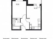1-комнатная квартира, 36.6 м², 10/17 эт. Томилино