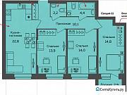 3-комнатная квартира, 83.5 м², 4/10 эт. Екатеринбург