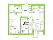 3-комнатная квартира, 52.5 м², 5/23 эт. Уфа