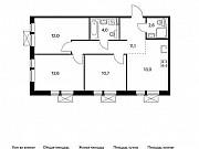 3-комнатная квартира, 66 м², 6/9 эт. Московский