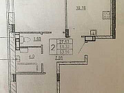 2-комнатная квартира, 54 м², 3/9 эт. Тула