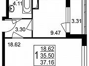 1-комнатная квартира, 37.2 м², 3/8 эт. Нахабино