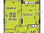 1-комнатная квартира, 44.6 м², 17/17 эт. Ковров