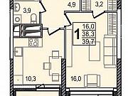 1-комнатная квартира, 39.7 м², 19/24 эт. Мытищи