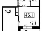 2-комнатная квартира, 42.2 м², 6/7 эт. Мытищи
