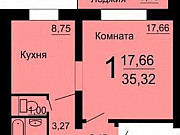 1-комнатная квартира, 34 м², 10/10 эт. Челябинск