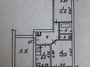 2-комнатная квартира, 48.9 м², 3/4 эт. Калуга
