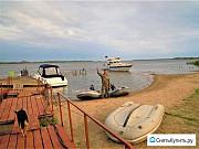 База отдыха на острове, река Волга Маркс