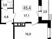 2-комнатная квартира, 41.5 м², 6/7 эт. Мытищи