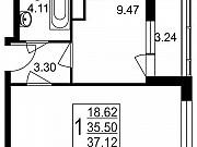 1-комнатная квартира, 37.1 м², 1/8 эт. Нахабино