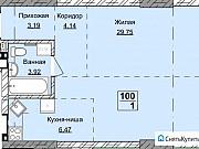 1-комнатная квартира, 47.5 м², 15/19 эт. Ижевск