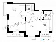 3-комнатная квартира, 79.5 м², 15/17 эт. Мытищи