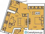 1-комнатная квартира, 40.7 м², 3/11 эт. Санкт-Петербург