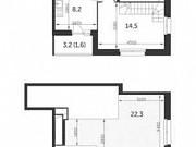 2-комнатная квартира, 80.5 м², 22/23 эт. Москва