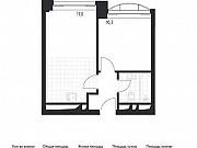 1-комнатная квартира, 33.8 м², 6/24 эт. Москва